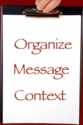 Organize, Message, Context